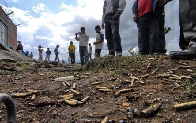 Balas tiroteo Cauca Colombia
