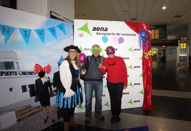 Photocall en el Aeropuerto de Lanzarote