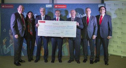 Banco Santander entrega a AECC Valencia 130.000€ recaudados con la venta de un disco solidario contra el cáncer infantil