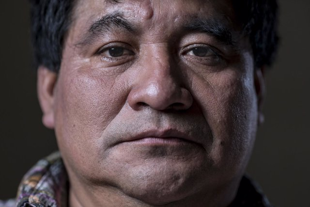 El líder indígena guatemalteco Bernardo Caal