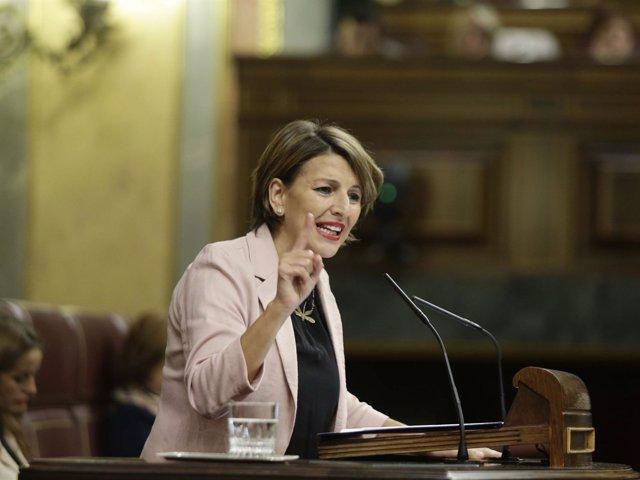 Yolanda Díaz, diputada de En Marea