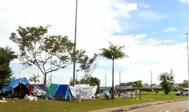 Campamento de inmigrantes en Manao