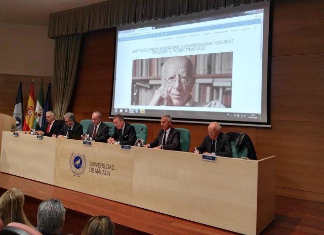 Entrega de premio a Emilio Lledó