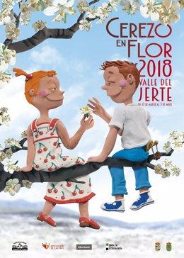 Cartel Oficial Y Fechas: Primavera Y Cerezo En Flor 2018, Valle Del Jerte.