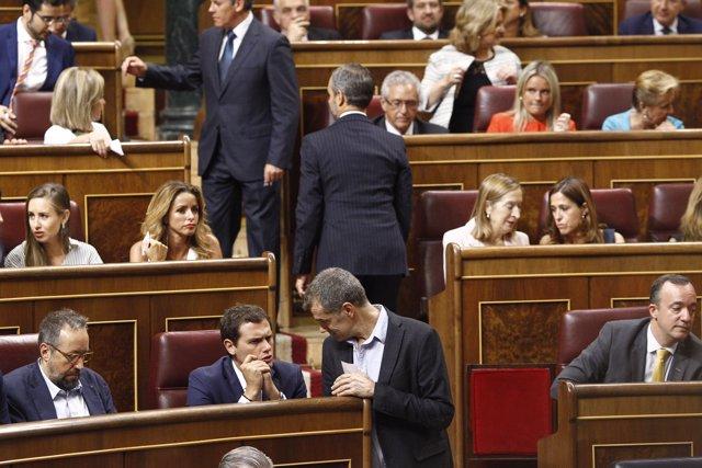 Albert Rivera i Toni Cantó en el Congrés