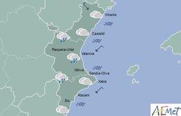 Nubes por la tarde en toda la región