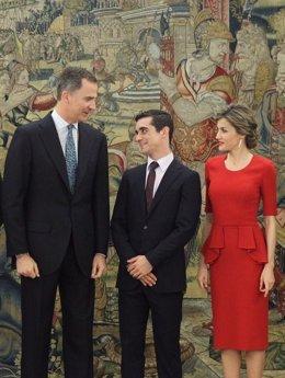 Los Reyes reciben a Javier Fernández, campeón del Mundo de Patinaje Artístico