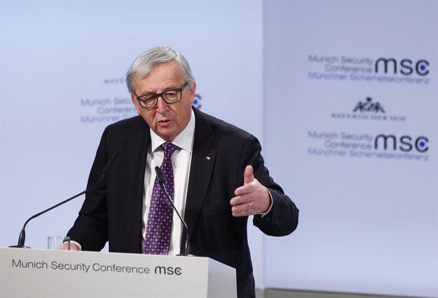 Jean-Claude Juncker en Conferencia de Seguridad de Múnich 2018