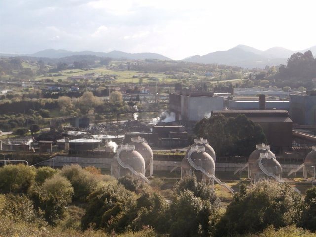 Acería de Arcelor en Carreño.