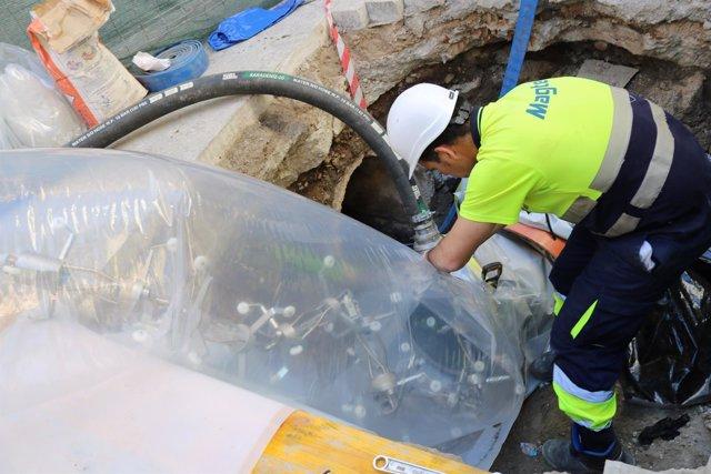 El Ayuntamiento De Málaga Informa: Nota Final Obras De Saneamiento En Calle San