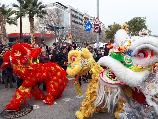 Año Nuevo Chino 2018 en Barcelona