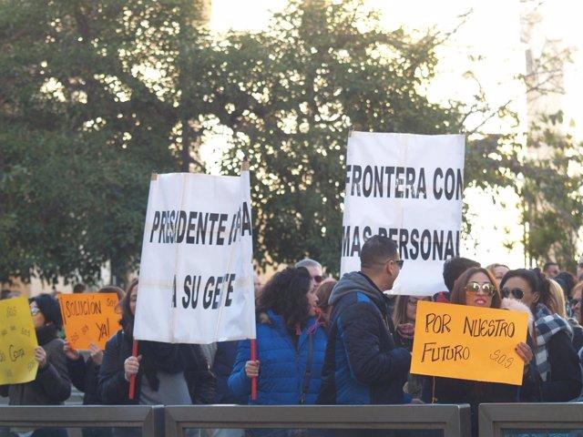 """Convocan en Ceuta movilizaciones por una frontera """"segura"""""""