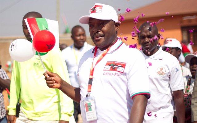 El presidente de Burundi, Pierre Nkurunziza
