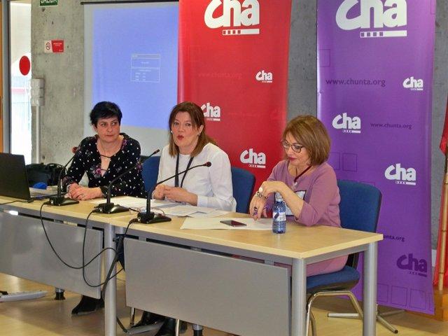 Jornadas feministas 'Mujeres en marcha hacia un cambio social' de CHA