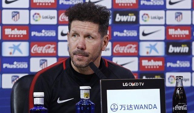 El entrenador de Atlético de Madrid, Diego Pablo Simeone
