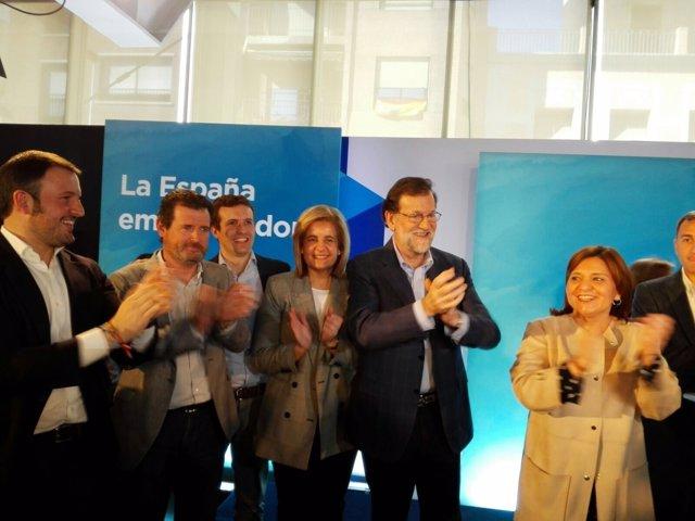Bonig, junto a Rajoy en un acto en Elche