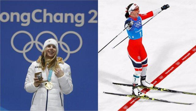 Ester Ledecka Marit Bjoergen Björgen PyeongChang