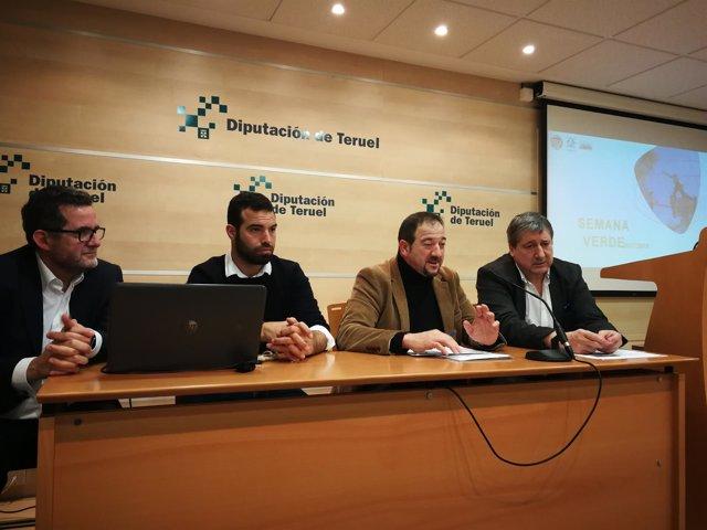 París, Agustí,  Millán y Almuzara presentan la semana verde.