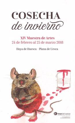 Cartel de la muestra artística Cosecha de Invierno 2018.
