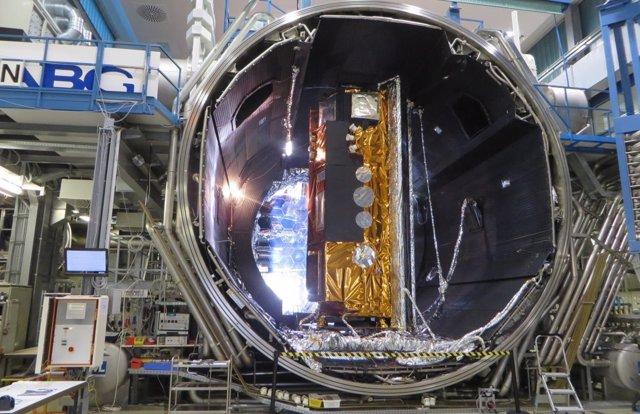 Vista del satélite español PAZ