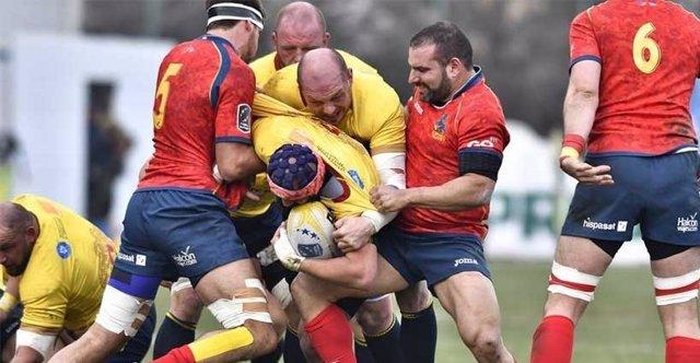 Selección española de rugby ante Rumanía