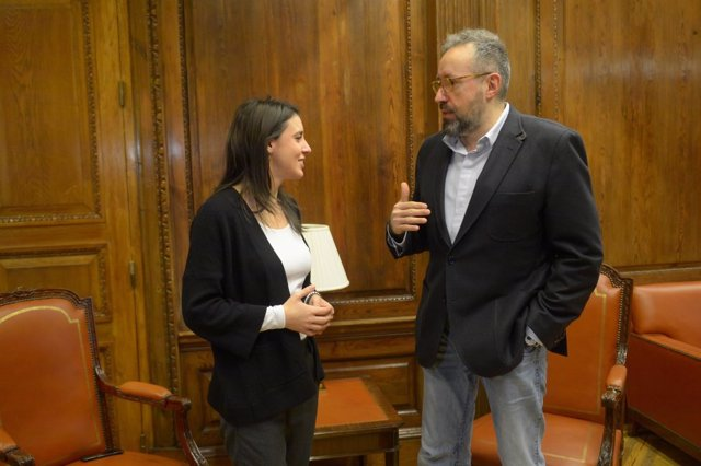 Irene Montero y Juan Carlos Girauta se reúnen para intercambiar propuestas