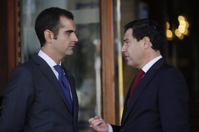 Juanma Moreno y Ramón Fernández-Pacheco