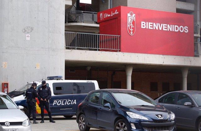 Policía investiga el caso de Quique Pina en el estadio Nuevo Los Cármenes del Gr
