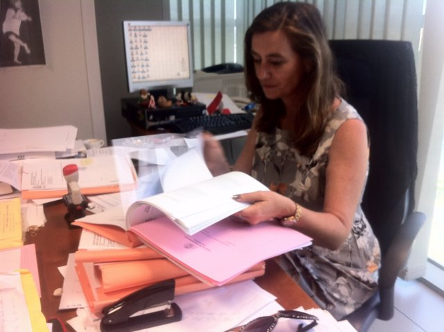 Susana Gisbert en su despacho en Fiscalía