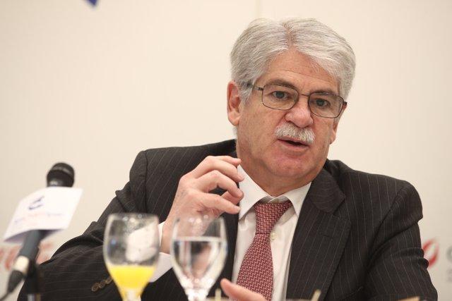 Alfonso Dastis en un foro organizado por Amcham Spain