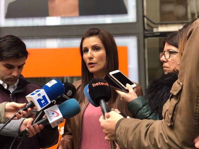 La diputada de Cs en el Parlament Lorena Roldán