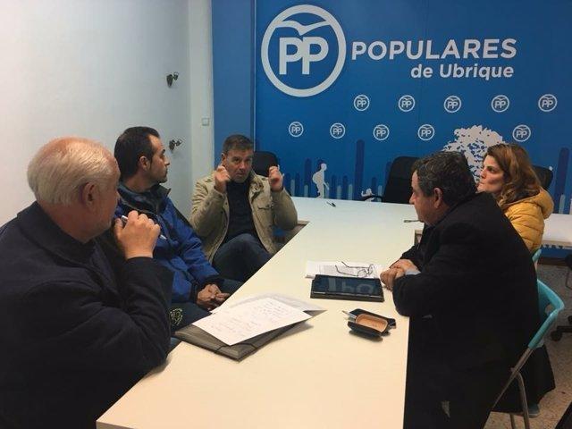 Reunión del PP de Cádiz con Asociación de Ciclistas