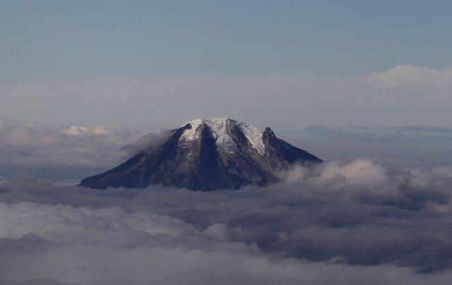 An aerial view of Nevado del Tolima volcano located in Tolima April 10, 2013.  R