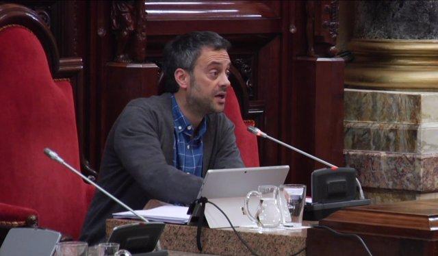 Xulio Ferreiro en el pleno municipal