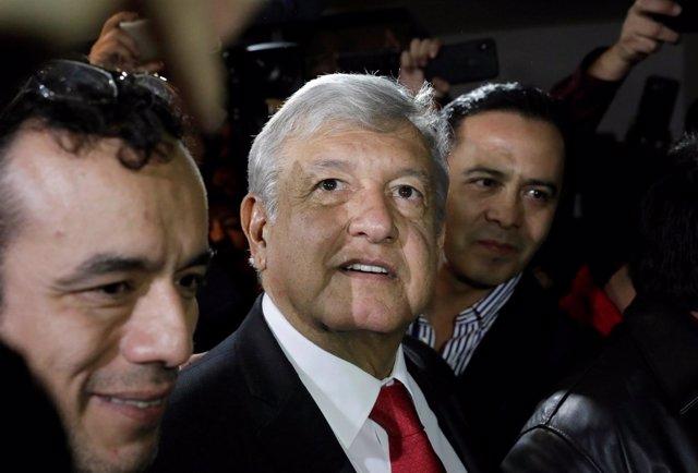El candidato presidencial de Morena, Andres Manuel López Obrador