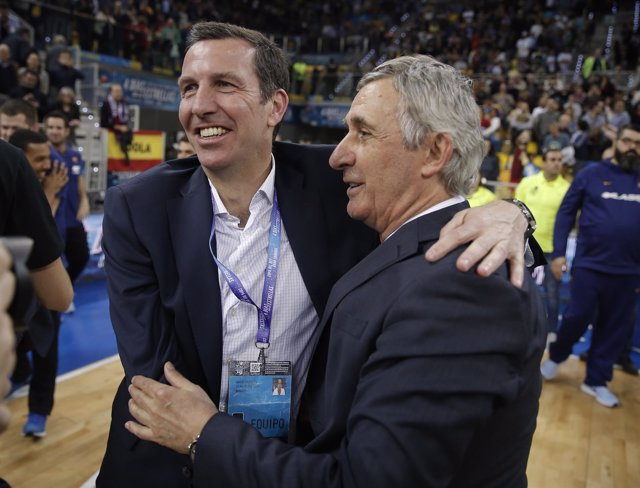 El entrenador del FC Barcelona Lassa, Svetislav Pesic
