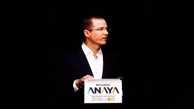 El candidato presidencial mexicano Ricardo Anaya