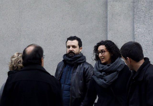 Marta Rovira llega al Supremo para declarar por el procés