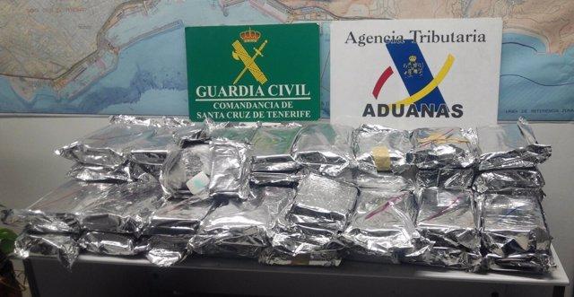 Resultado de imagen de Santa Cruz de Tenerife con 59 kilogramos de cocaína