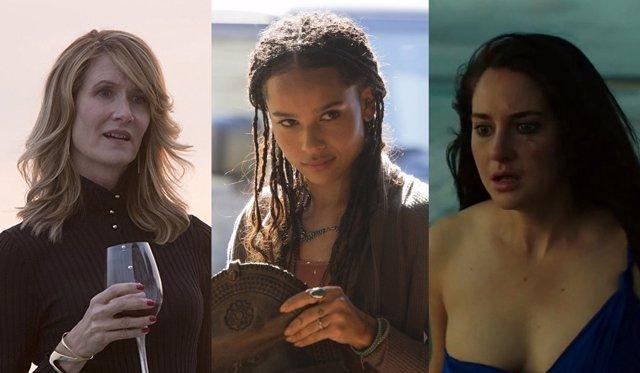 Laura Dern, Zoe Kravitz y  Shailene Woodley en Big Little Lies