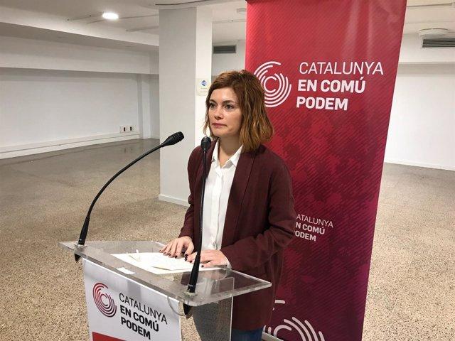 La portavoz de CatECP y líder de CatComú, Elisenda Alamany