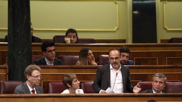 Carles Campuzano y diputados del PDeCAT