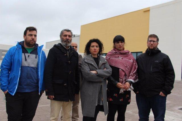 Teresa Rodríguez (Podemos) en la cárcel de Archidona
