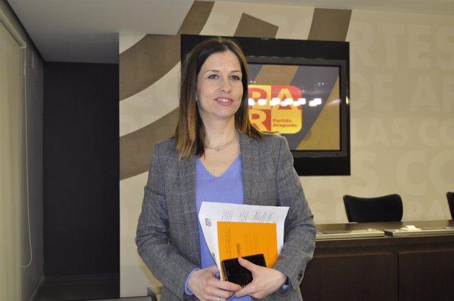 La diputada del PAR, María Herrero, hoy en las Cortes