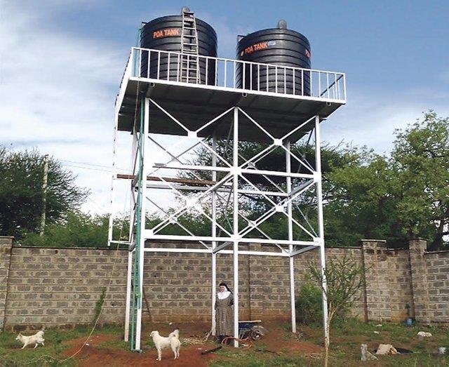 Pozo localizado por la misionera en Kenia
