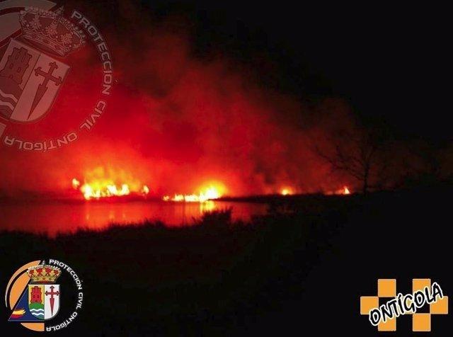 Incendio en el mar de Ontígola
