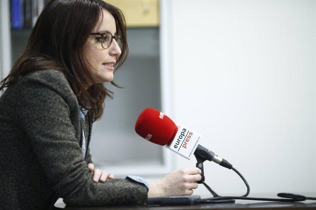 Andrea Levy en una entrevista concedida a Europa Press