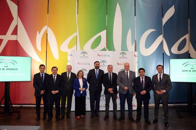 Consejero de turismo y las ocho diputaciones andaluzas