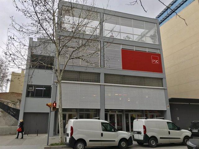 Sede del PSC en la calle Pallars de Barcelona