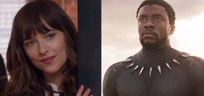 Caos en un cine que proyecta Cincuenta sombras liberadas en lugar de Black Panther (UNIVERSAL/MARVEL STUDIOS)
